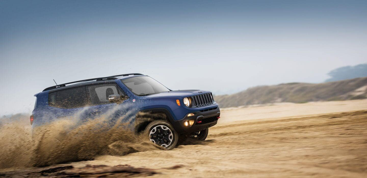 2017 Jeep Renegade off-roading