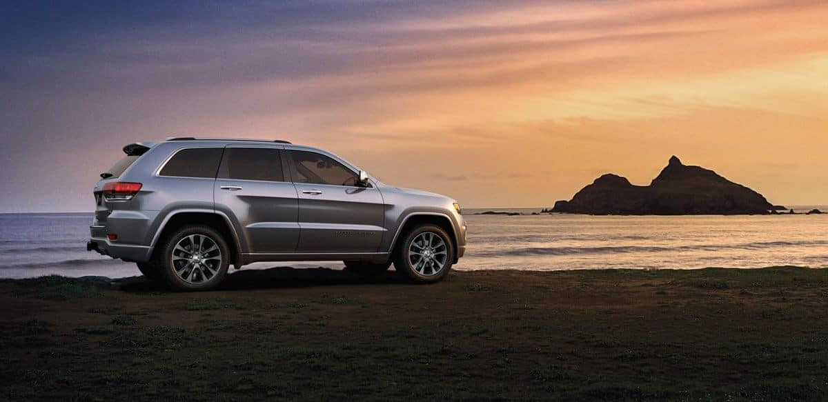 2018 Jeep Grand Cherokee Parked at a Beach