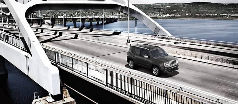 2018 Jeep Renegade Driving Over a Bridge