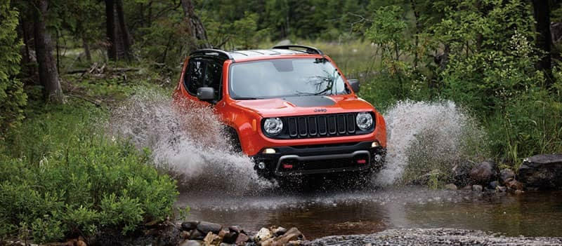 2018 Jeep Renegade Off-Roading Through Water