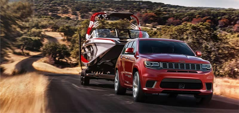2018 Jeep Grand Cherokee Towing a Boat