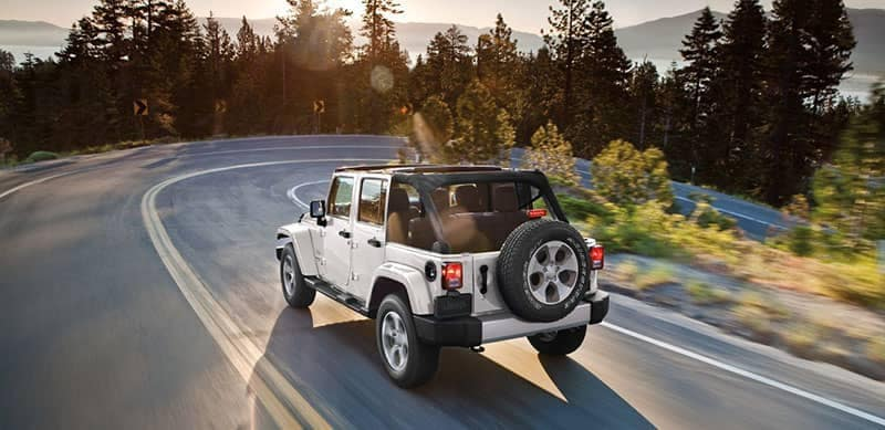 2018 Jeep Wrangler Driving with Top Off