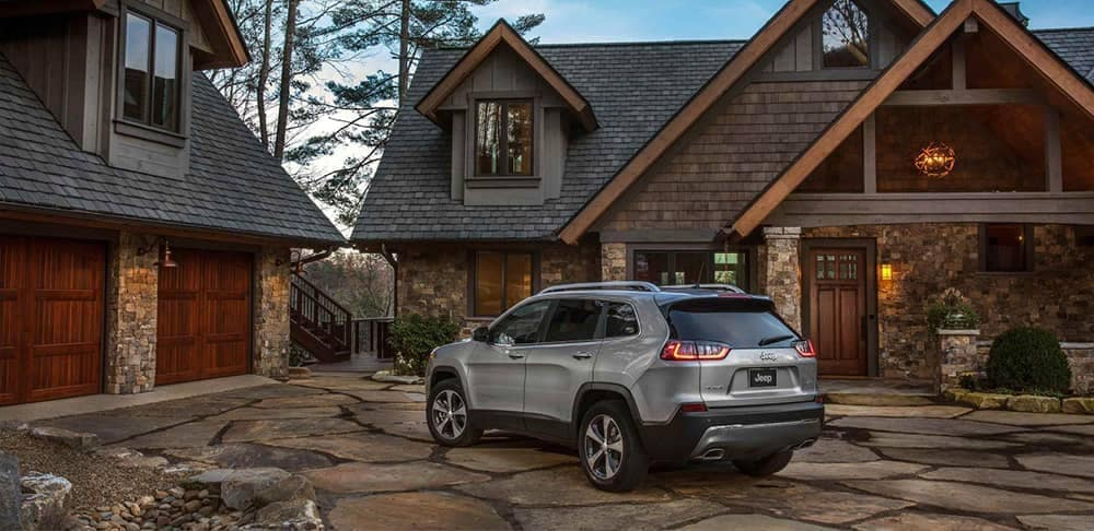 2019 Jeep Cherokee Parked Outside Home