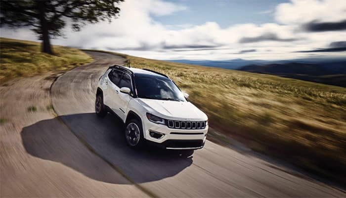 2019 Jeep Compass Driving on Dirt Road