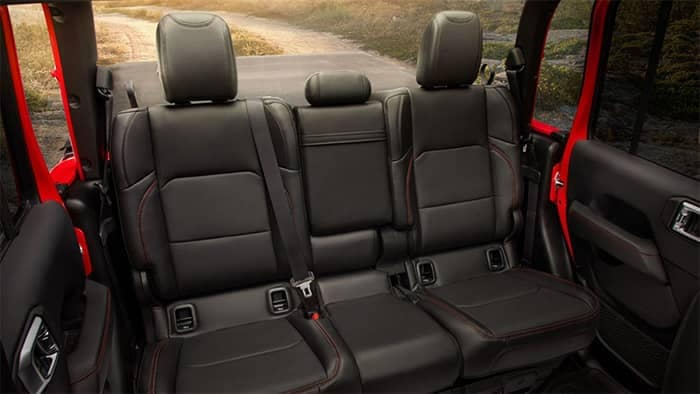 Jeep Gladiator Rear Seating