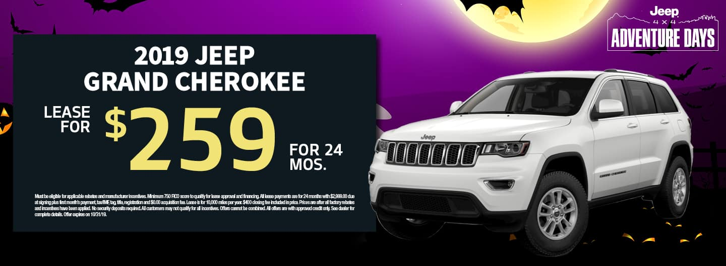 October Jeep Grand Cherokee Promo