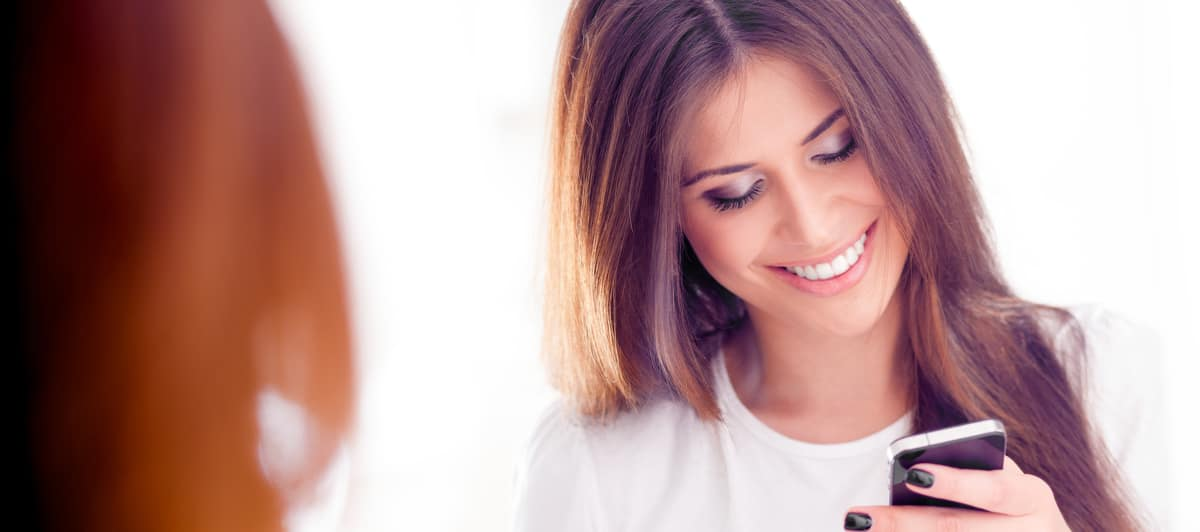 Woman Using UConnect App