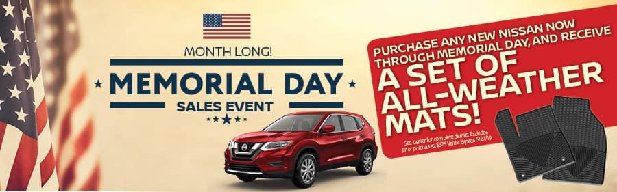 Nissan of Yorktown Heights Weather Mats Memorial Day