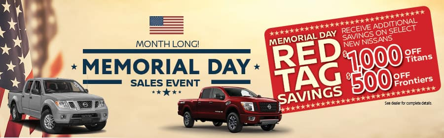 Nissan of Yorktown Heights Red Tag Memorial Day