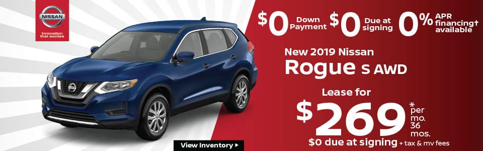 New 2019 Nissan Rogue Lease Offer Special Nissan of Yorktown Heights NY