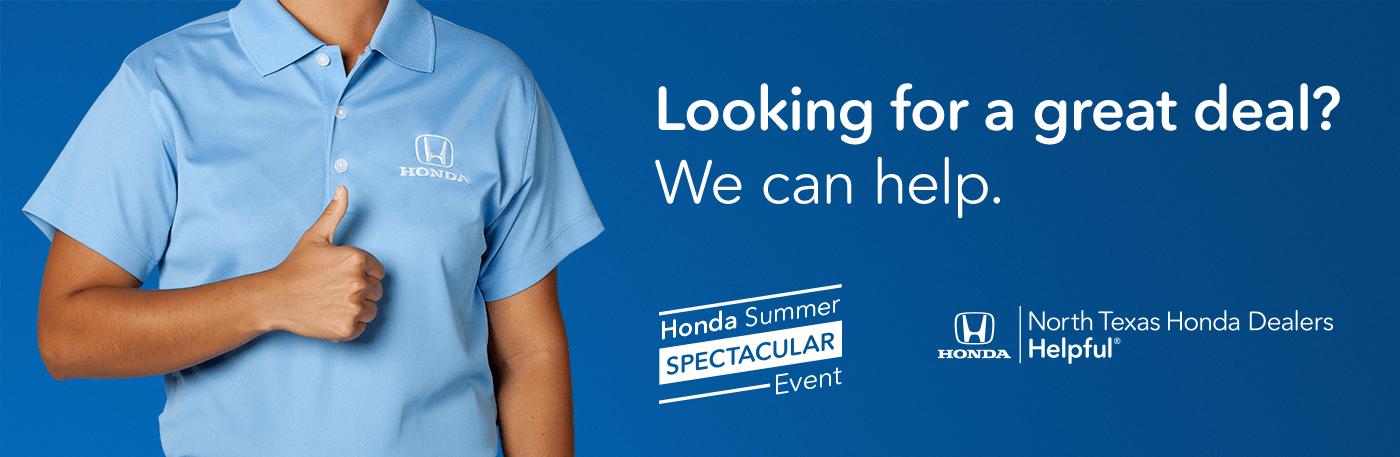 2019 Honda Summer Spectacular Event North Texas Honda Dealers Banner