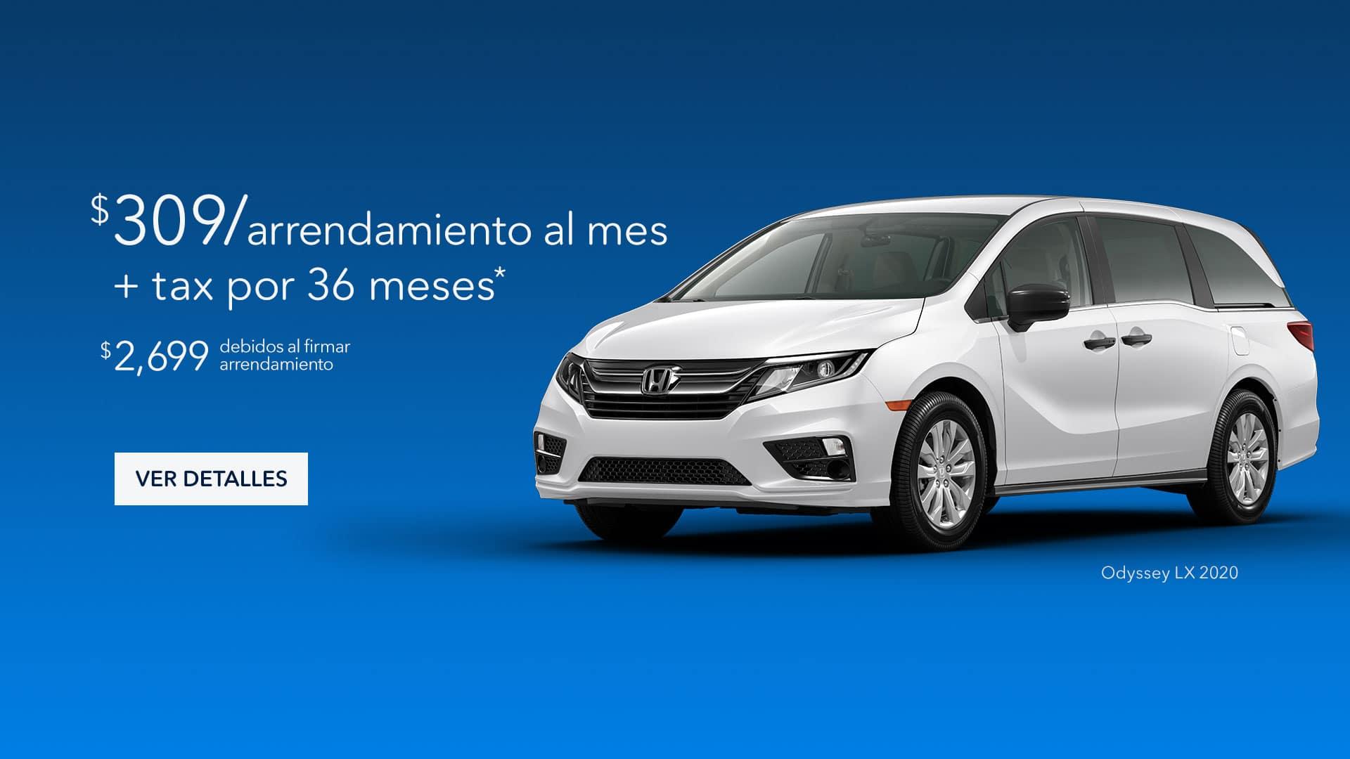 Honda Odyssey $309