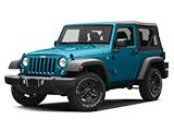 New Blue Jeep Wrangler