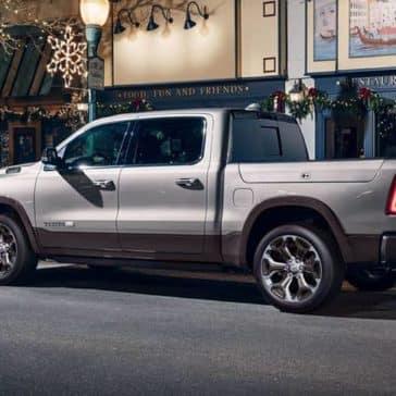 2020 Ram 1500 Laramie Longhorn parked downtown