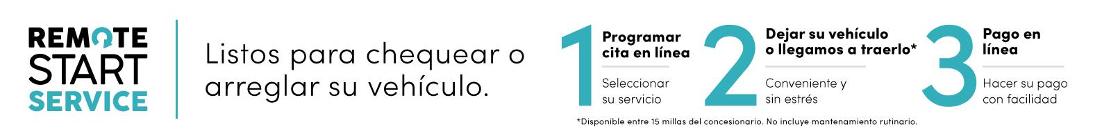 Remote start spanish banner VRP