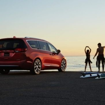 2017 Chrysler Pacifica parked at the beach