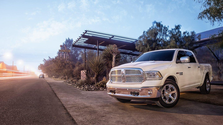 2018 Ram 1500 white exterior model