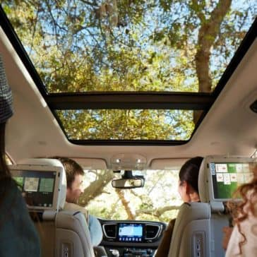 2018 Chrysler Pacifica Interior Backseat View with panoramic roof