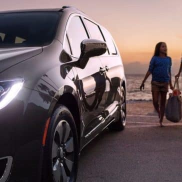 2018 Chrysler Pacifica parked by the beach