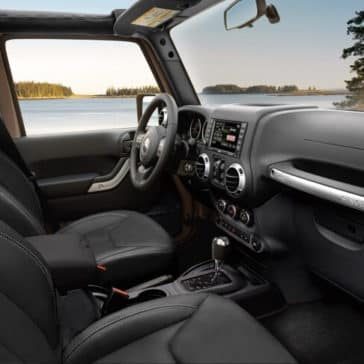 Interior of a 2018 Jeep Wrangler JK