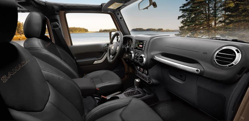 Interior of a 2018 Jeep Wrangler JK