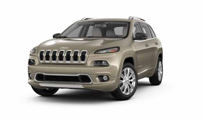 2018 Jeep Cherokee Overland Light Brownstone Exterior