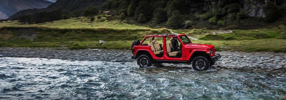 2018 Jeep Wrangler Off-Roading with Top Off