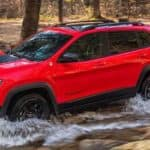 2018 Jeep Cherokee Off-Roading in a Forest