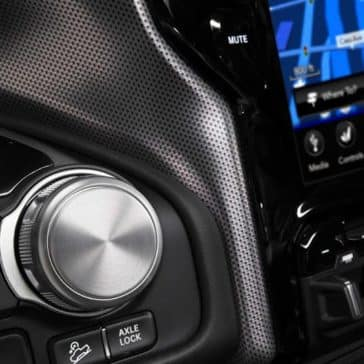 2019 Ram 1500 rotary E-Shifter and touchscreen