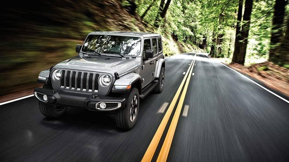 2019 Jeep Wrangler driving on forest roads