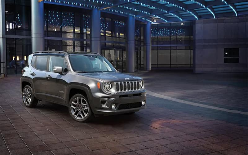 2019 Jeep Renegade under lights
