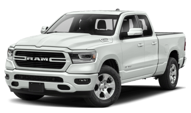 2019 RAM 1500 All-New white pick up truck