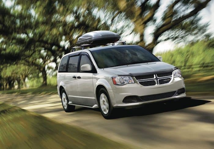 2019 Dodge Grand Caravan driving on rural road