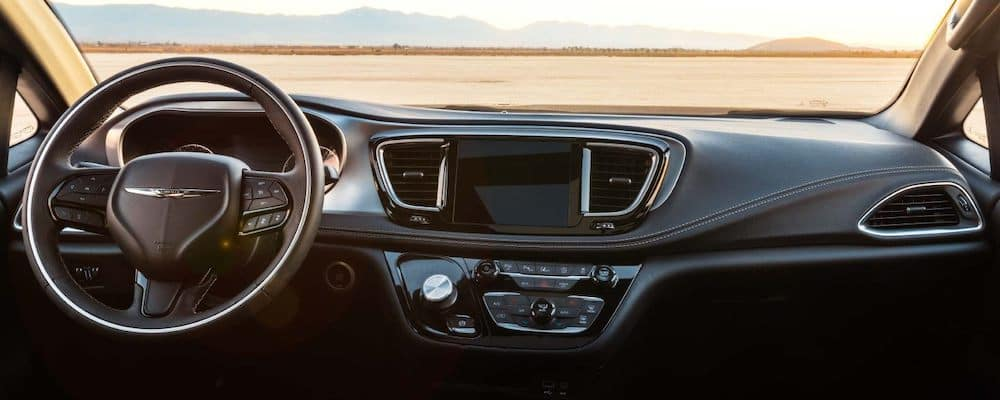 2020 Pacifica dashboard and multimedia controls