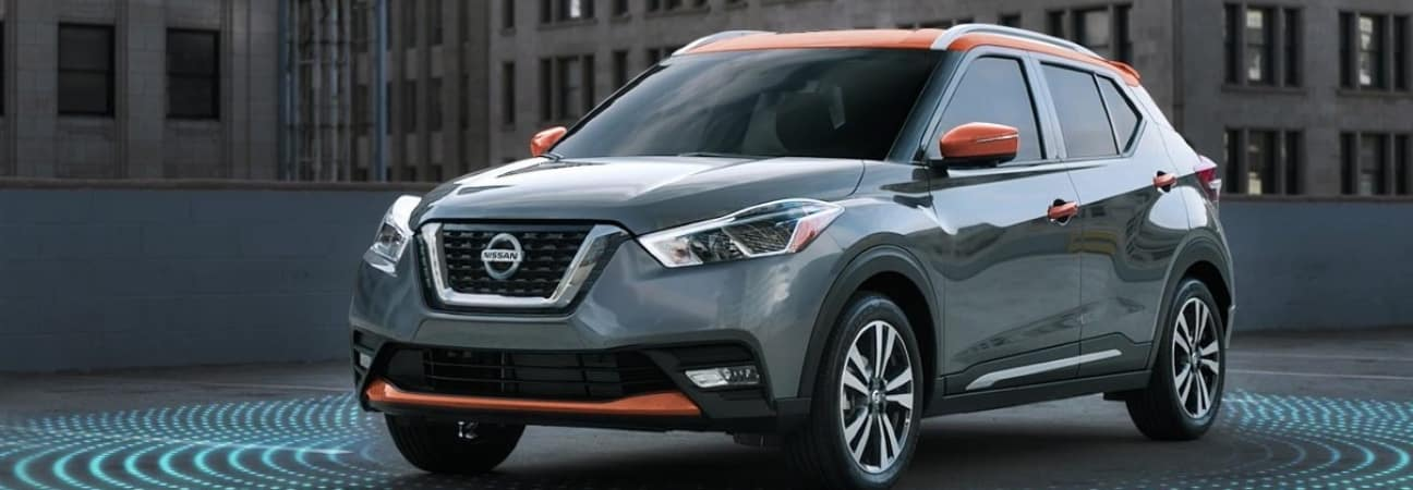 2018 Nissan Kicks parked in the city