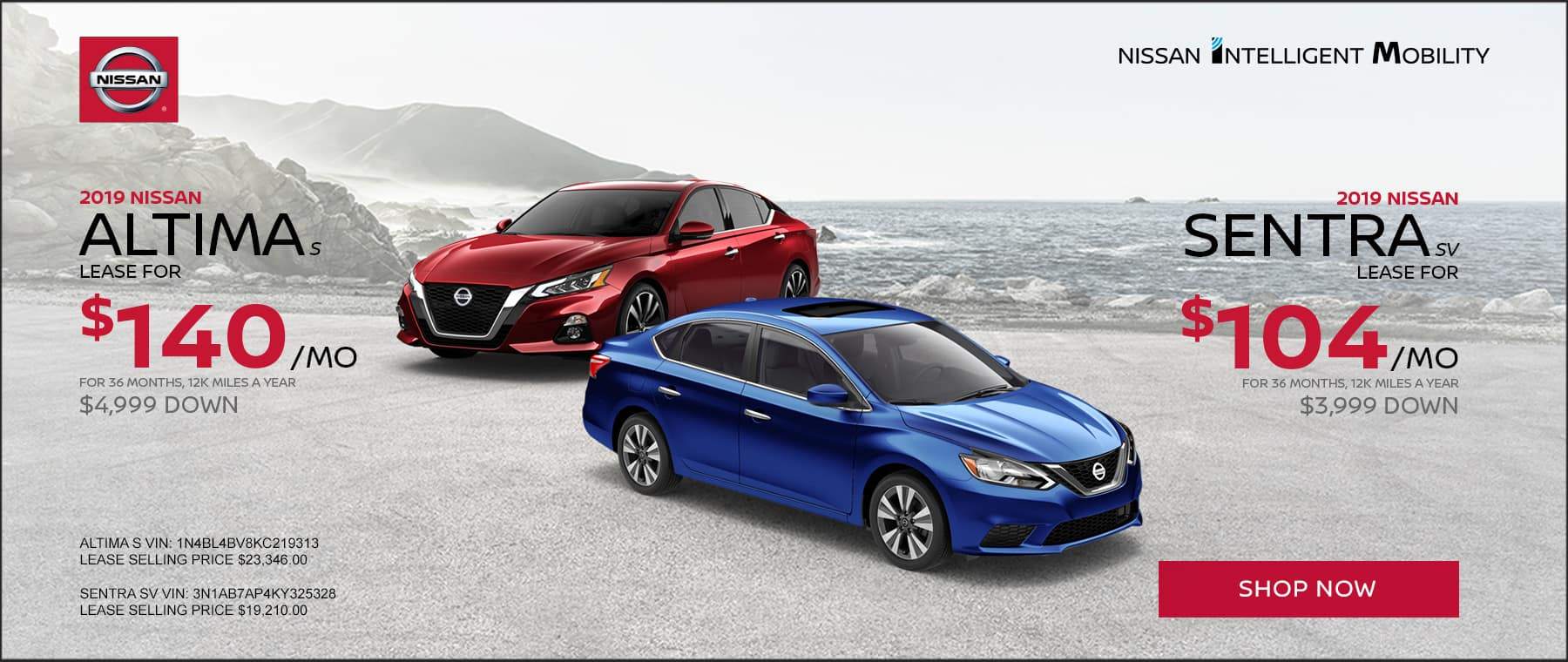 Year-End Event Altima/Sentra Banner