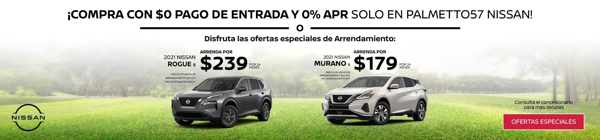 Rogue and Murano Specials