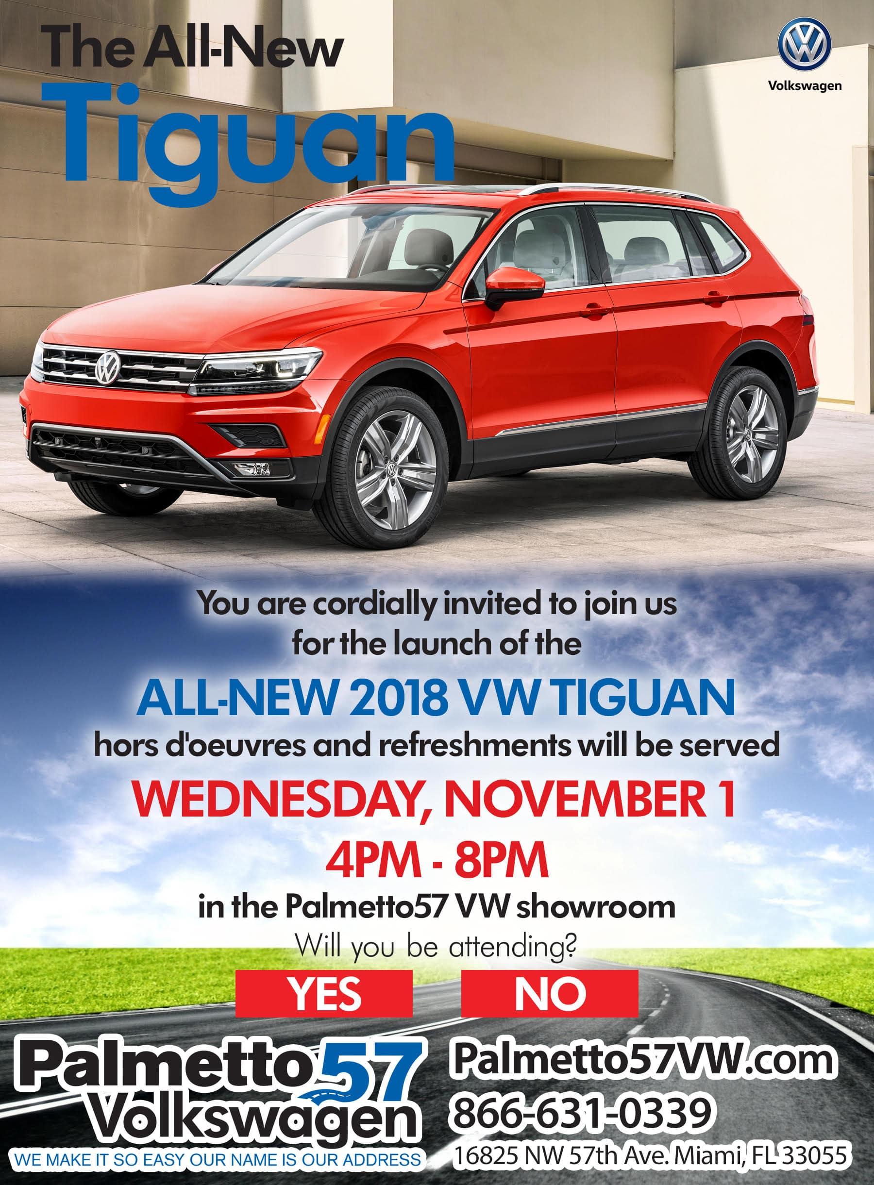 Palmetto57 Volkswagen Tiguan Launch Party RSVP
