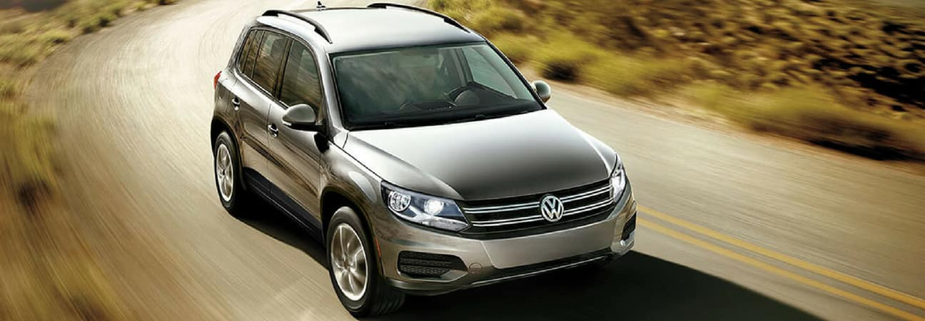 2018 VW Tiguan driving down highway