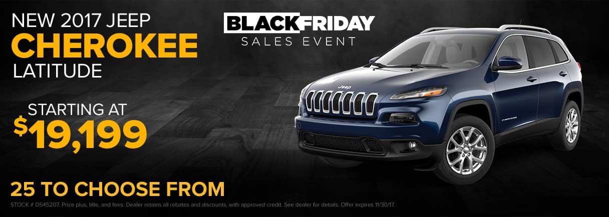 2017 Jeep Cherokee Black Friday Sales Event - Paulding CDJR