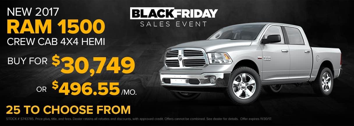 2017 RAM 1500 Crew Cab Black Friday Sales Event - Paulding CDJR