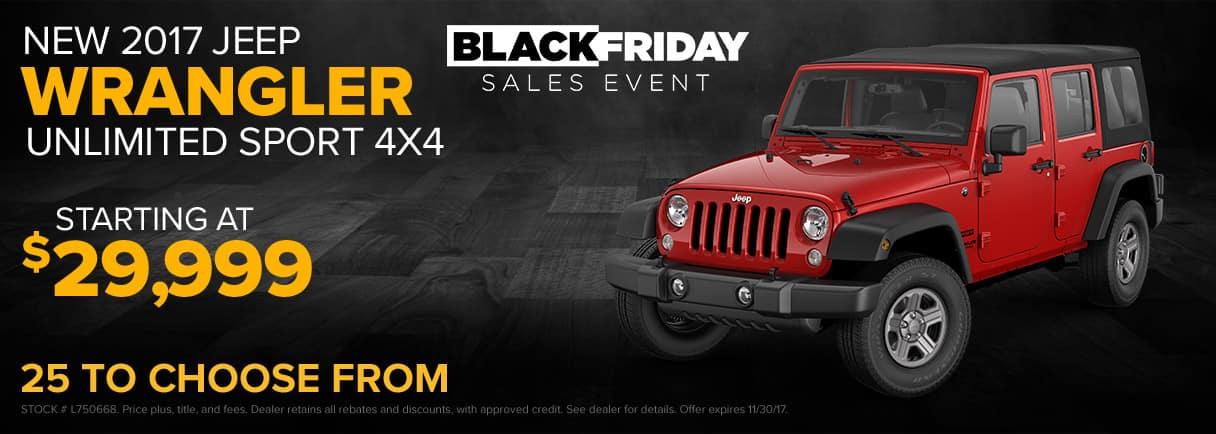 2017 Jeep Wrangler Unlimited Black Friday Sales Event - Paulding CDJR