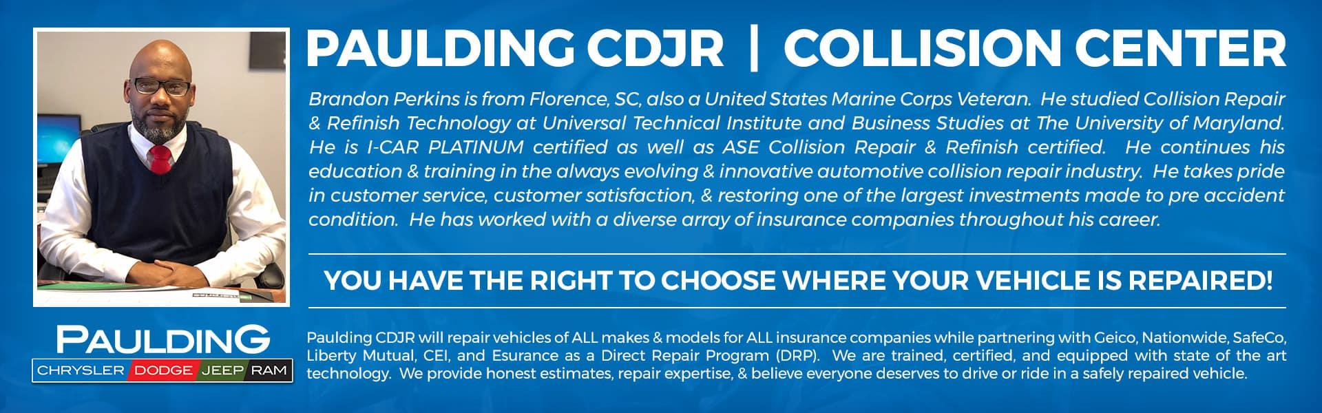 Come Visit The Paulding CDJR Collision Center