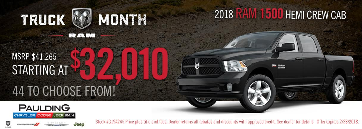 Get huge savings on the Ram 1500 during Truck Month