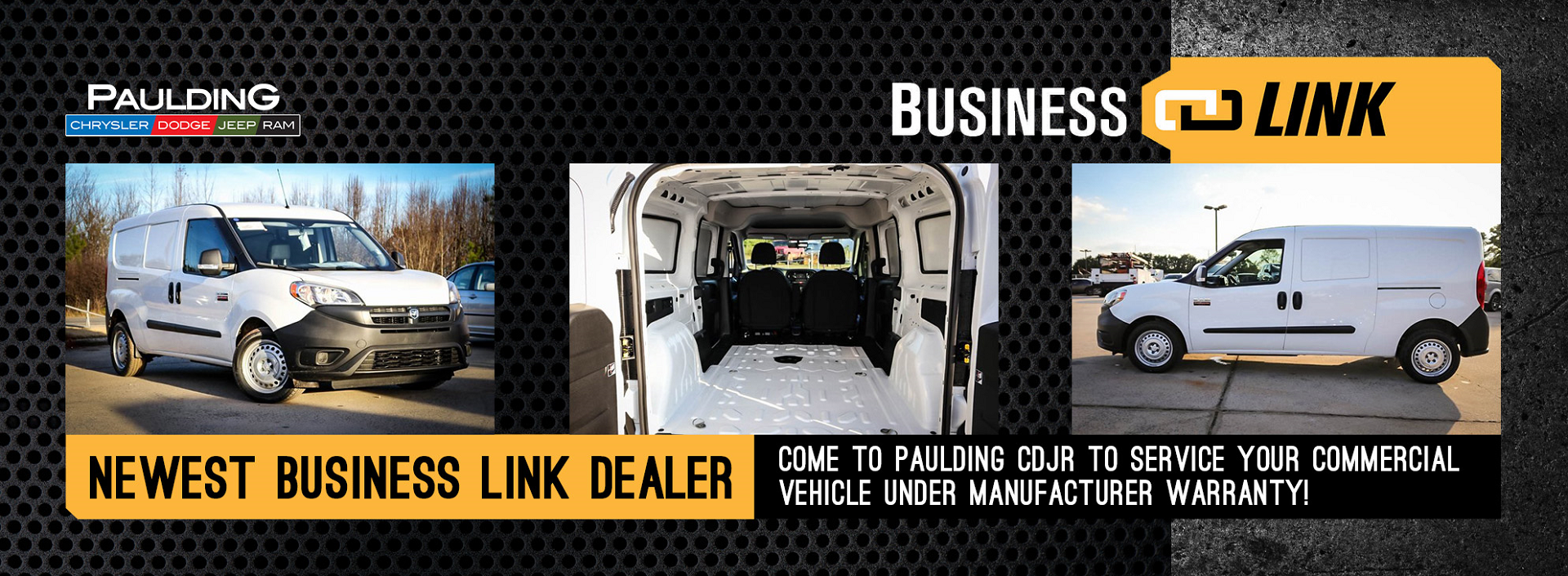 Paulding CDJR is now a BusinessLink service provider for your business and fleet vehicles