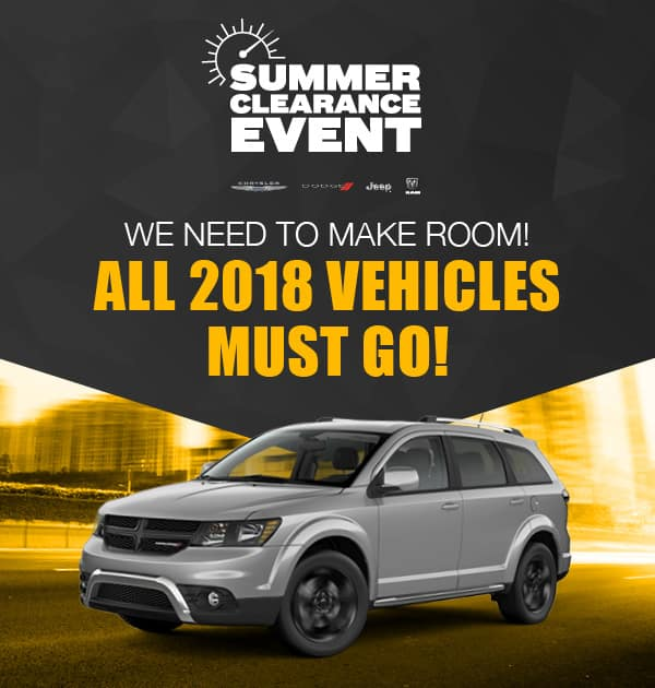 Summer Clearance Event. All 2018 Vehicles Must Go!