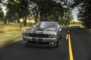 Grey Dodge Challenger