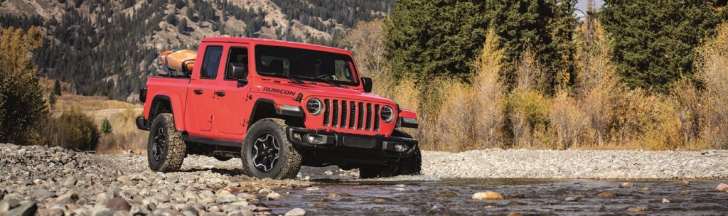 2020 Wrangler JT Gladiator Rubicon in Firecracker Red