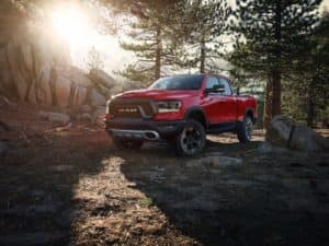 Ram 1500 Rebel in Flame Red