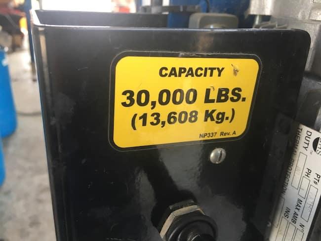 30000 pound hoist